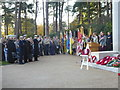 SU9456 : The playing of The Star Spangled Banner at Brookwood Military Cemetery by Marathon