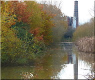 SP7290 : Chimney overlooking the canal by Mat Fascione