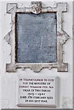 TQ1711 : Steyning, St. Andrew and St. Cuthman Church: The Ernest Cox memorial plaque by Michael Garlick