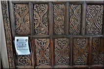 TQ1711 : Steyning, St. Andrew and St. Cuthman Church: Beautifully carved Tudor screen (1522) 1 by Michael Garlick