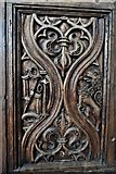 TQ1711 : Steyning, St. Andrew and St. Cuthman Church: Beautifully carved Tudor screen (1522) 3 by Michael Garlick