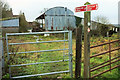 ST5466 : Byway signs, Castle Farm by Derek Harper