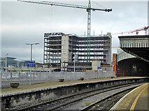 W6872 : Building construction near Kent Station, Cork by Robin Webster