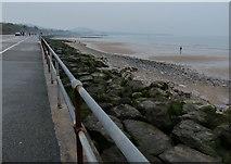 SH8678 : Promenade and beach at Colwyn Bay by Mat Fascione