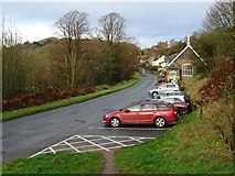 SO7643 : Car park at Upper Wyche by Philip Halling