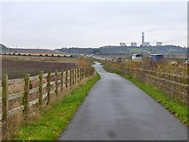SK5232 : Bridleway beside the A453 by Graham Hogg