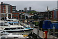 SK9771 : Lincoln: Brayford Pool and view up to the cathedral by Christopher Hilton