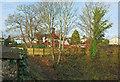 SX9065 : Fence by the railway, Shiphay Bridge by Derek Harper