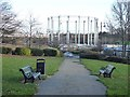 NZ3666 : Old gasometer on Oyston Street by Oliver Dixon