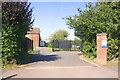 SP8688 : Entrance to St Brendan's Catholic Primary School from Beanfield Avenue by Phil Richards