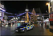 SK5804 : Police car parked on Leicester High Street by Mat Fascione