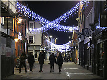 SK5804 : Christmas lights on Silver Street, Leicester by Mat Fascione