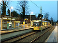 SJ8491 : Didsbury Village tram stop by Stephen Craven