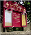 SY1287 : Information board for Sidmouth Parish Church by Jaggery