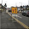 ST3090 : A4051 lane closed 100 yards ahead, Malpas, Newport by Jaggery