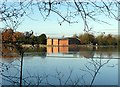 SK6465 : Rufford Abbey Mill – view across the lake by Alan Murray-Rust