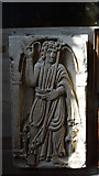SK4023 : Breedon on the Hill - St Mary & St Hardulph's Church, replica of the Breedon Angel carving by Colin Park