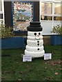 SH8076 : A re-tyred snowman by Richard Hoare