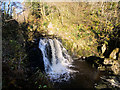 SD6974 : Ingleton Waterfalls Trail, Pecca Falls by David Dixon