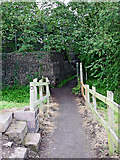SJ8934 : Public footpath to Stonefield, Stone, Staffordshire by Roger  Kidd