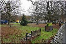 SK2572 : Village green in Baslow by Bill Boaden