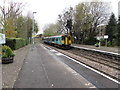 SO4593 : Arrival from the south at Church Stretton station by Jaggery