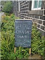 SD9928 : Blackboard on Wainsgate Lane - Heritage Open Day at Wainsgate Chapel, Old Town, Hebden Bridge by Phil Champion