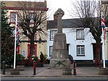 ST0207 : War memorial on High Street by Steve Daniels