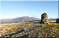 NY1927 : Cairn and fence on Broom Fell by Trevor Littlewood