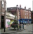 SJ8990 : Christmas Tree on Lower Hillgate by Gerald England
