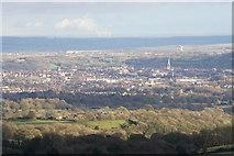 SK3871 : Chesterfield from Longside Moor by Bill Boaden