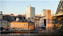 NZ2563 : Low-angled sunshine on Newcastle Guildhall by Trevor Littlewood