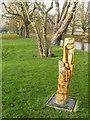 SE5944 : Naburn Lock – mill sculpture by Alan Murray-Rust