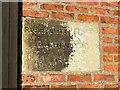 SE5944 : Naburn Lock – foundation stone by Alan Murray-Rust
