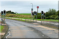 NS2842 : Pedestrian-controlled Traffic Lights on the A78 at Stevenston by David Dixon