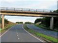 NS2743 : Bridge over the A78 near Ardeer Golf Club by David Dixon