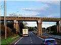 NS3042 : Rail Bridge over the A78 by David Dixon