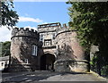SD9951 : Outer gatehouse, Skipton Castle by Bill Harrison