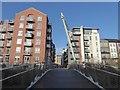 SE6051 : Hungate footbridge - looking north along Palmer Street by Oliver Dixon
