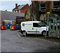 SO8505 : Valley Trading van and wheelie bins, Fawkes Place, Stroud by Jaggery