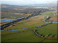 NS4666 : Farmland near Glasgow Airport from the air by Thomas Nugent