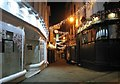 TG2308 : Christmas decorations in Swan Lane by Evelyn Simak