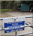SN7900 : Bilingual Welsh Water name sign, Clyne by Jaggery