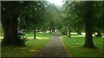 SO2956 : Path through Kington Recreation Ground by Fabian Musto