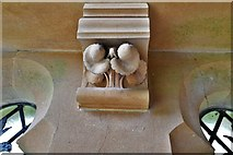 TQ1450 : Ranmore Common, St. Barnabas Church: South porch roof corbel 1 by Michael Garlick