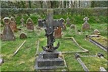 TQ1450 : Ranmore Common, St. Barnabas Church: Charles Baker R.N. grave by Michael Garlick