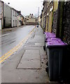 SO2603 : Purple lidded wheelie bins, Station Street, Abersychan by Jaggery