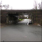 SP0189 : West side of Telford Way overbridge, Smethwick by Jaggery