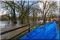 TQ1656 : Minchin Close flood barriers by Ian Capper