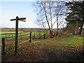 TQ3841 : Public footpaths near Felcourt by Malc McDonald